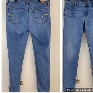 American eagle, super stretch, size 12, jegging